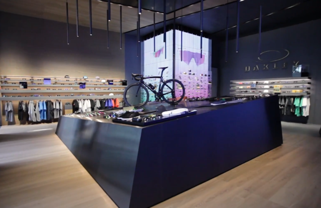 The Oakley flagship in Milan.