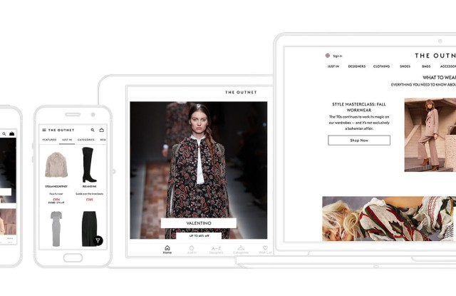 A visual of The Outnet.com's revamped brand identity.