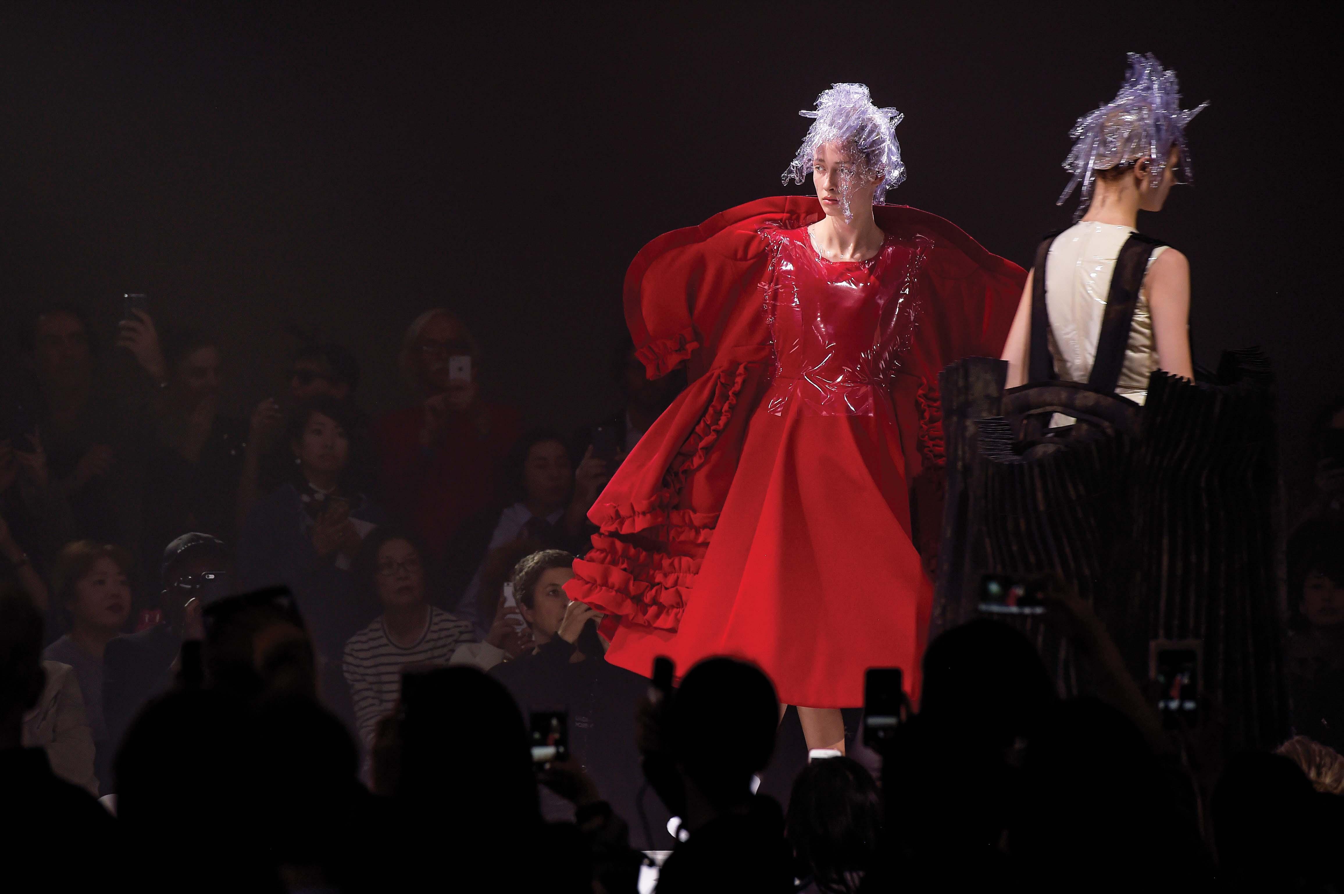 Comme des Garçons Rei Kawakubo conjured a fantastical, audacious triumph of shape and structure.