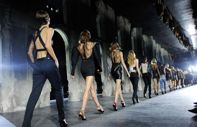 """Yves Saint Laurent In his brand debut, Anthony Vaccarello Invoked """"a bit of bad taste,"""" inspired by the house founder's renegade years."""