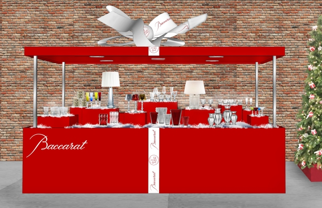 A rendering of Baccarat's pop-up shop on Bleecker Street in the West Village.