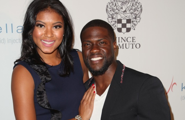 Men's Fitness 'Game Changers' party Eniko Parrish and Kevin Hart