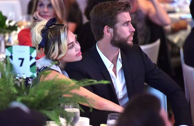 Variety Power of Women 2016 Miley Cyrus and Liam Hemsworth