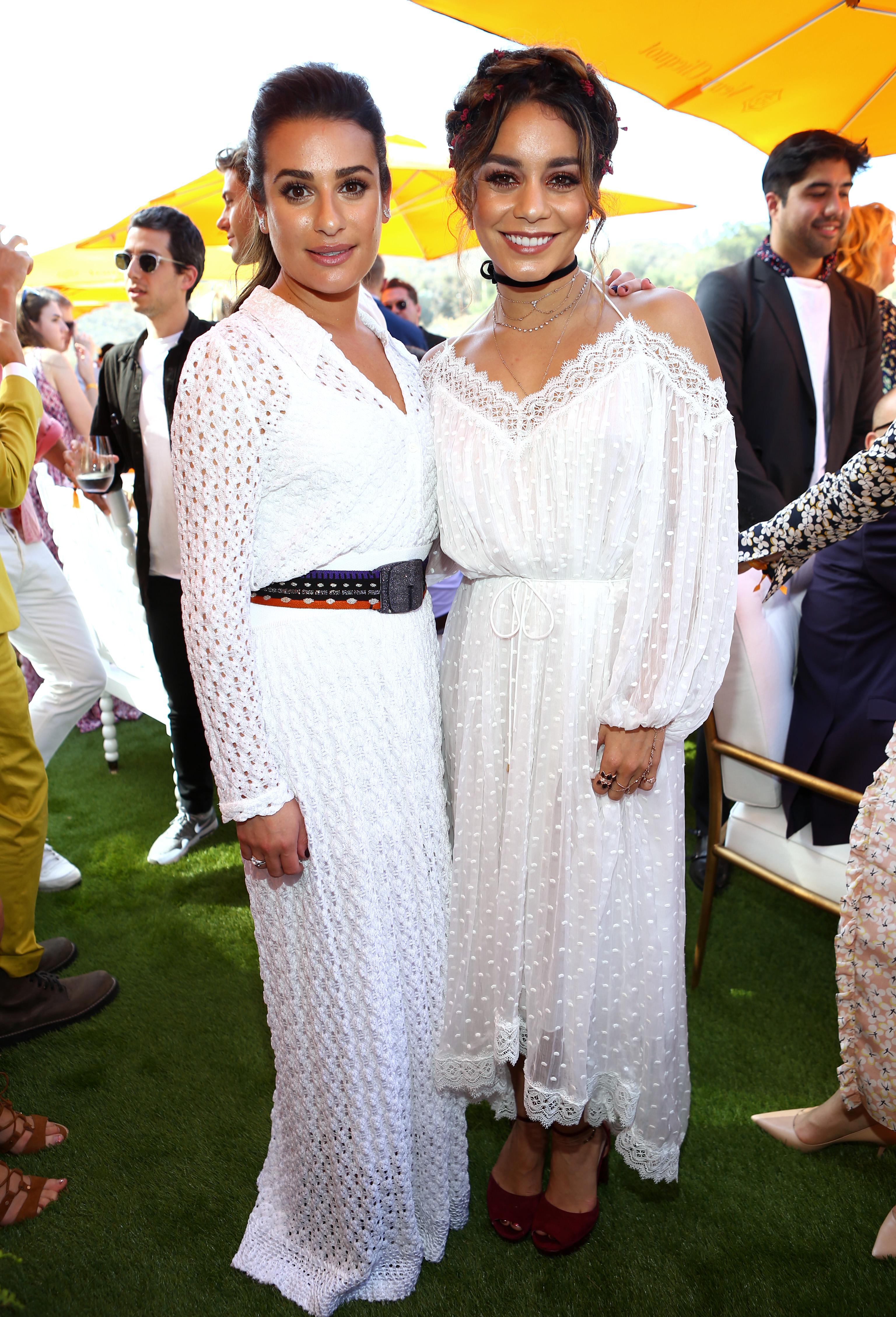 Veuve Clicquot Polo Classic 2016 Lea Michele and Vanessa Hudgens