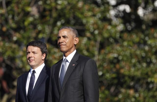 Italian Prime Minister Matteo Renzi and Predident Obama