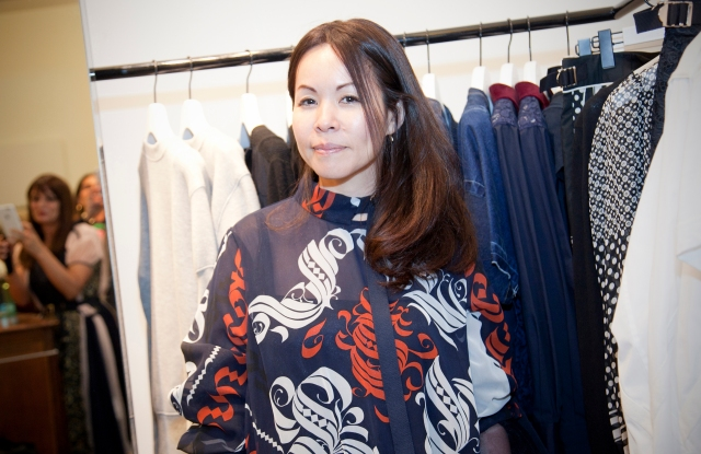 Chitose Abe at the Saks Fifth Avenue Sacai shop.