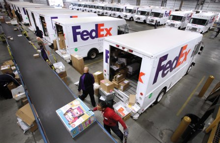Ground transportation firms like UPS and Fedex are improving delivery service to fast-fashion customers.