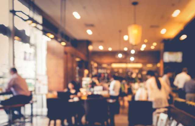 Consumer spending shifts toward services and restaurants.