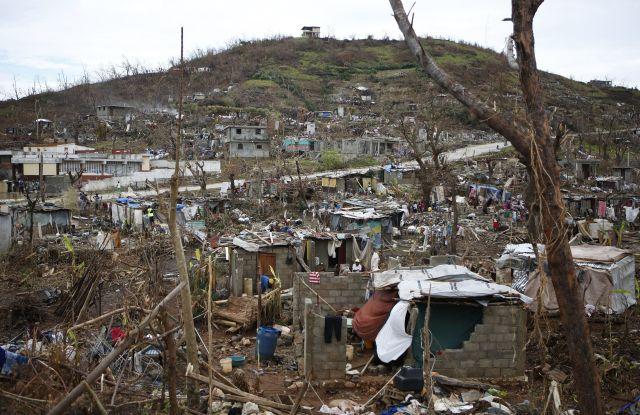 Damage from Hurricane Matthew in Haiti.