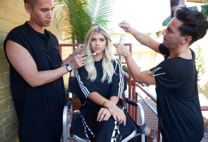 Sofia Richie PrettyLittleThing ad campaign shoot