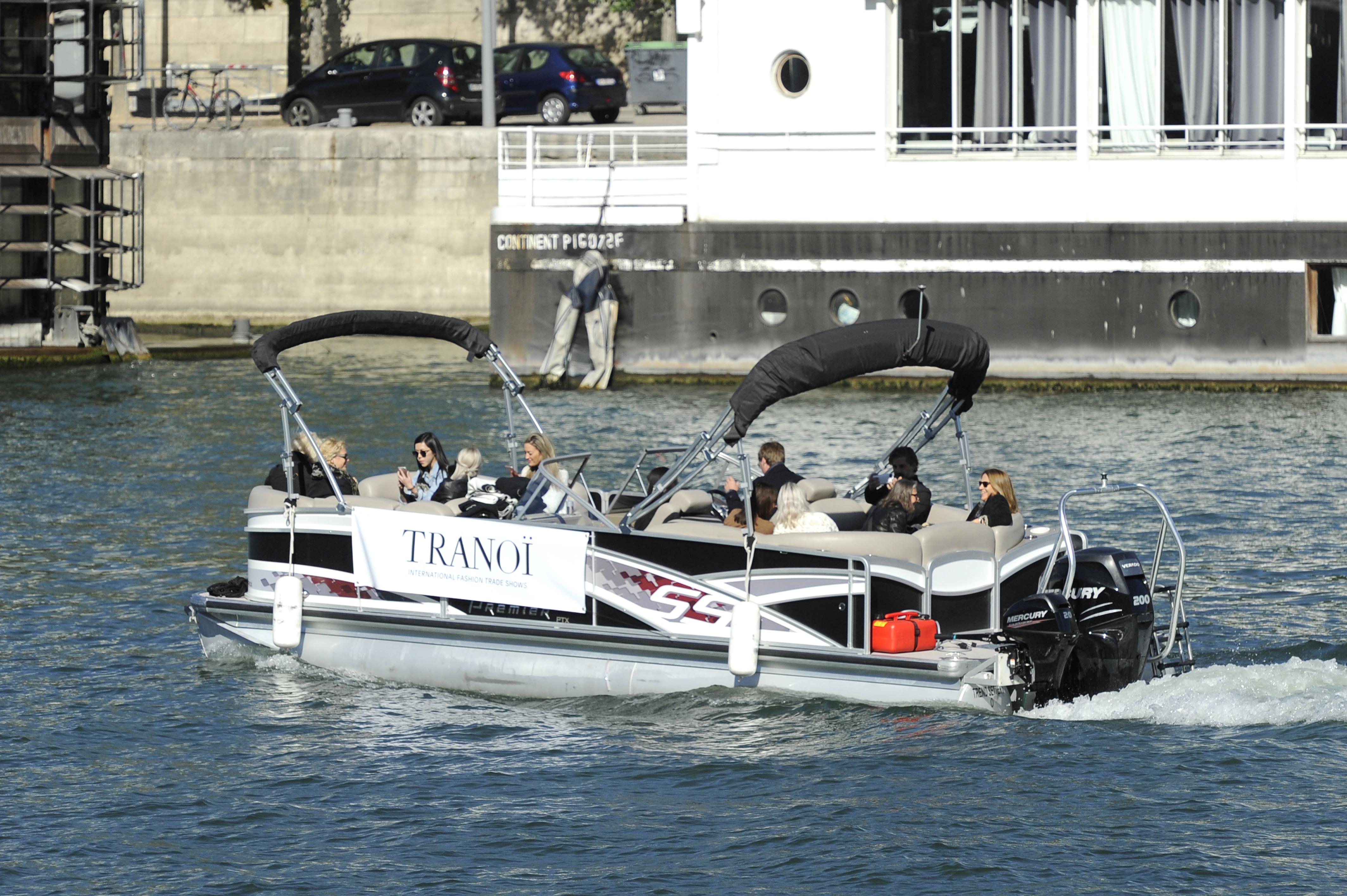 Avoiding Parisian traffic on the Tranoi shuttleboat
