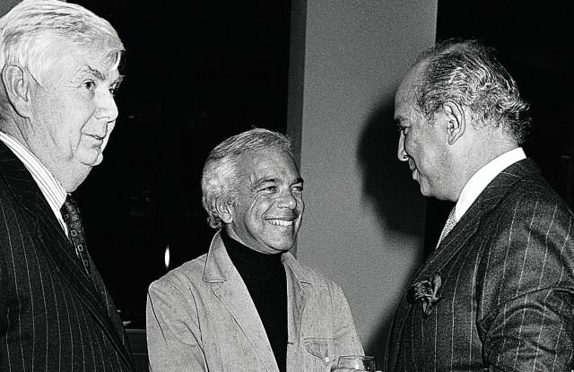 John B. Fairchild, Ralph Lauren and Oscar de la Renta.