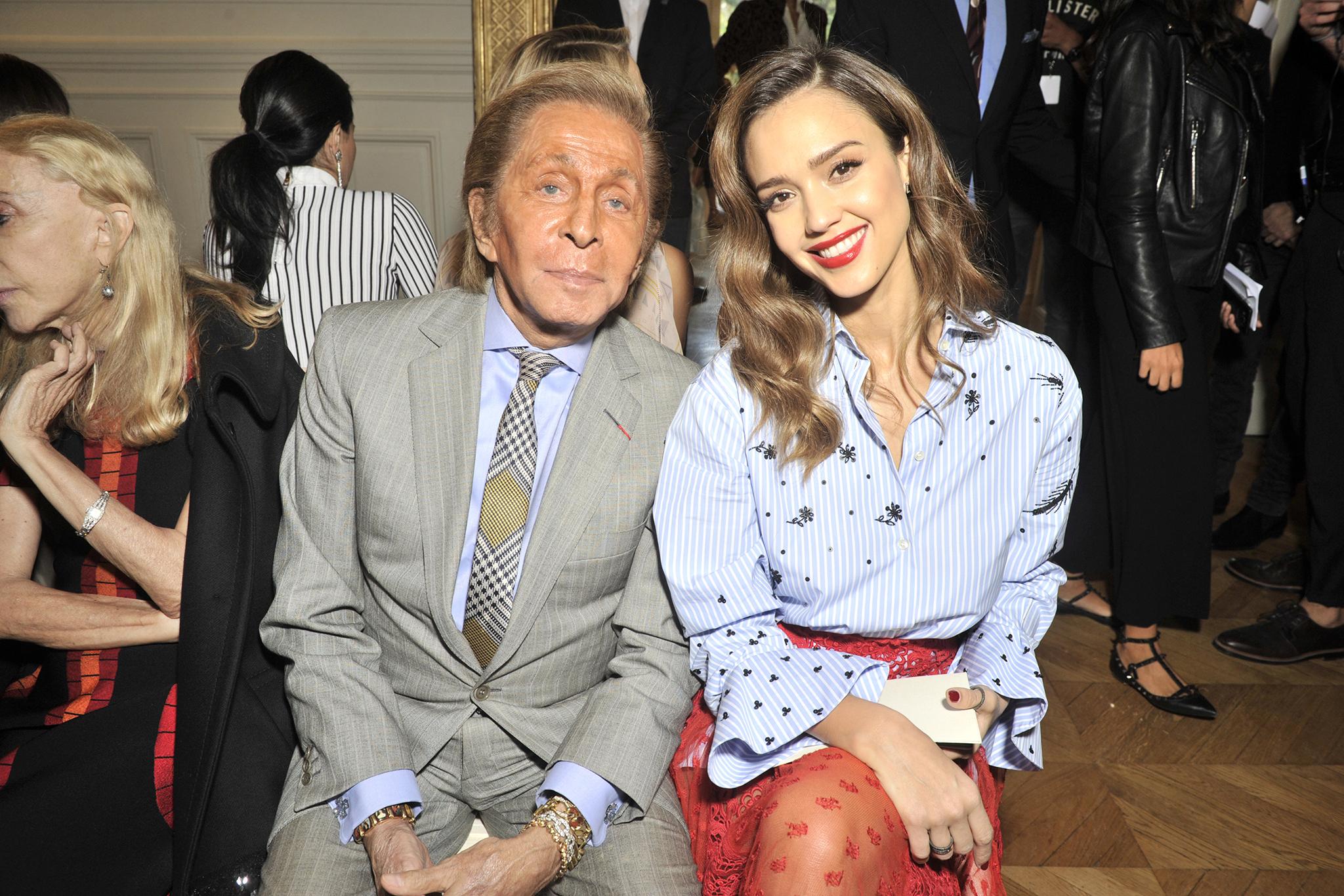 Valentino Garavani and Jessica Alba