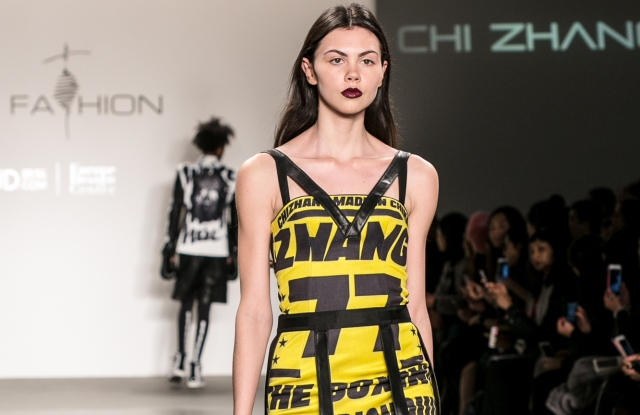 The Chinese designer participated at JD.com's runway show in New York in February.