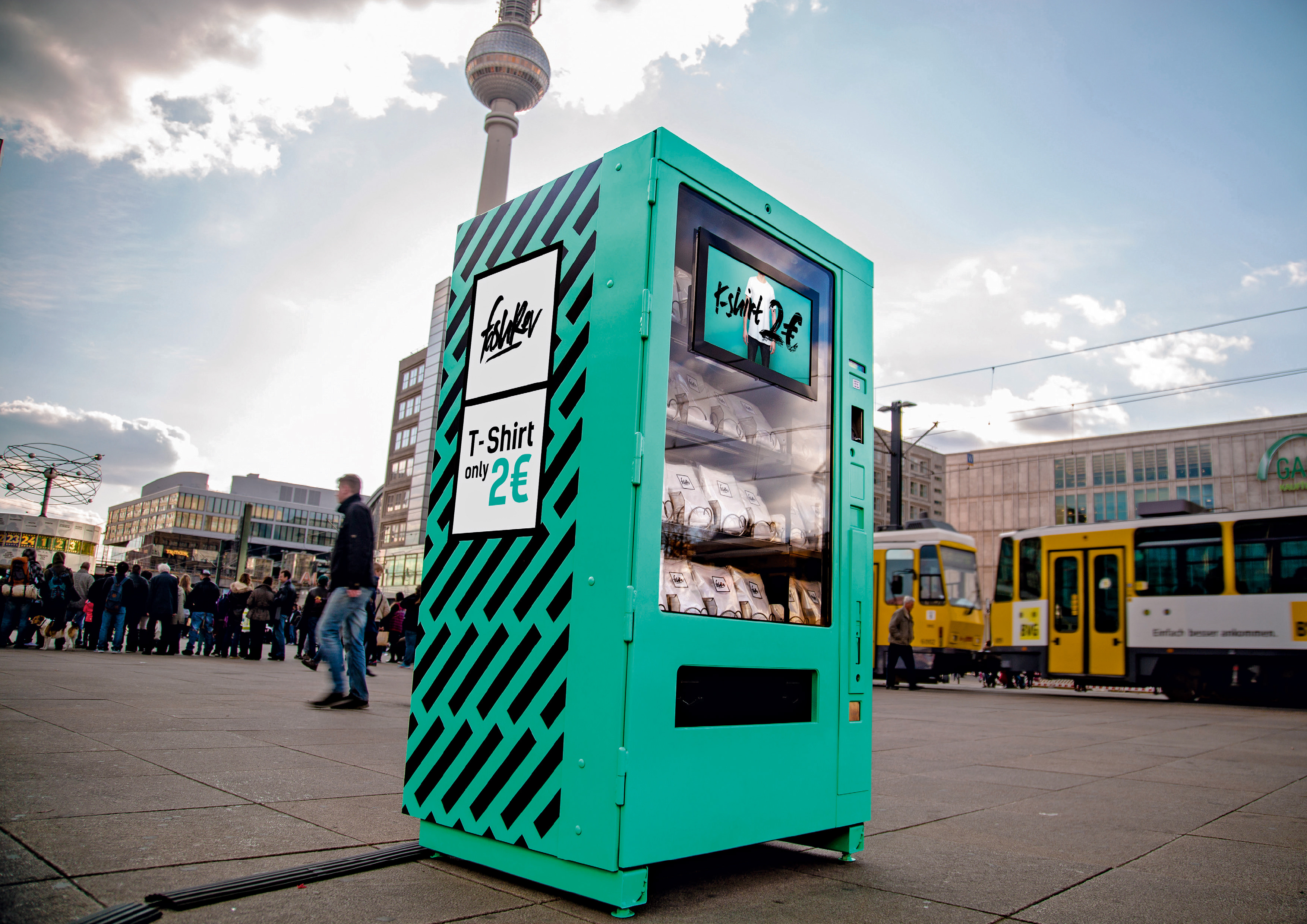 BBDO Berlin's vending machine design for Fashion Revolution Day.