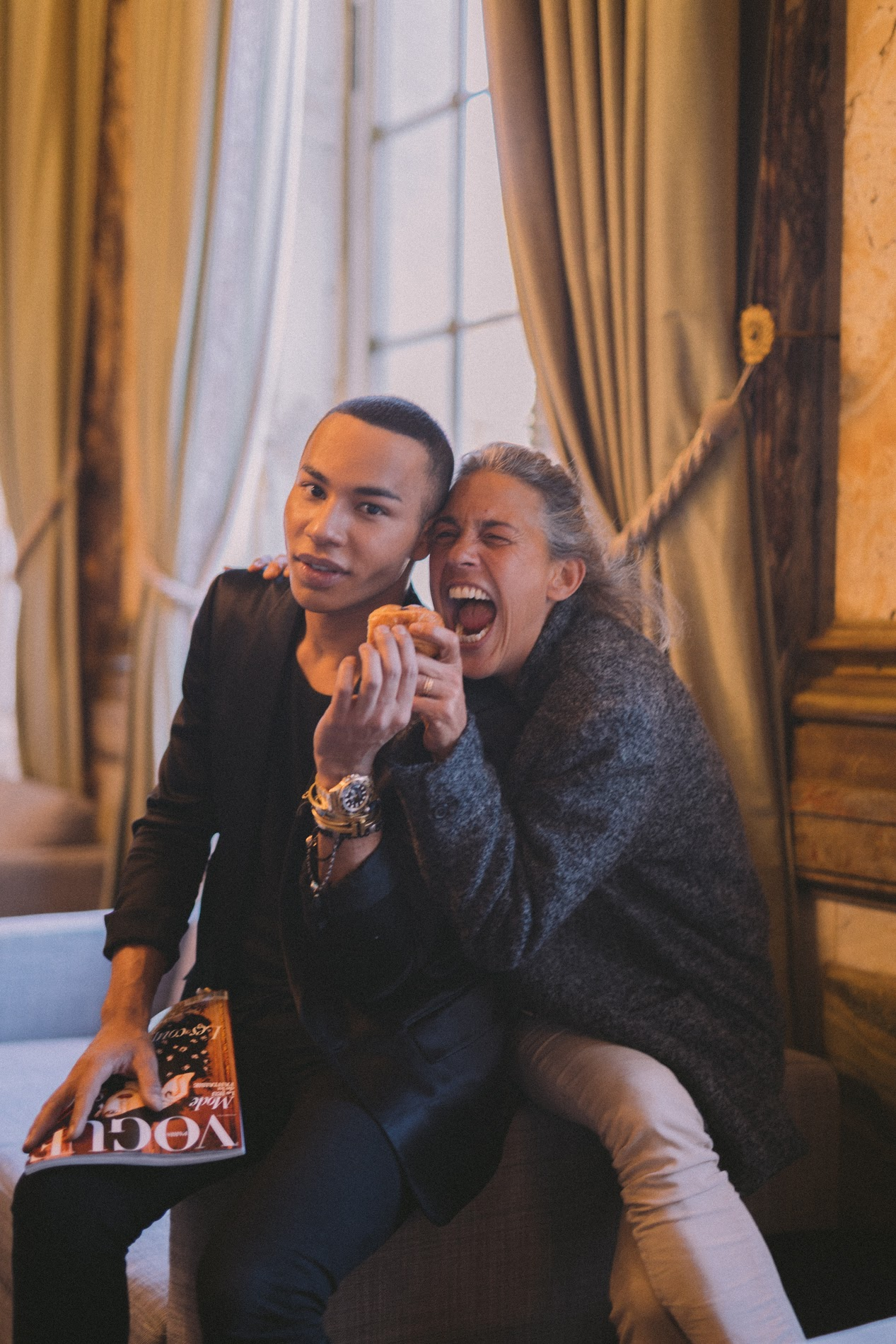 Olivier Rousteing and Isabel Marant