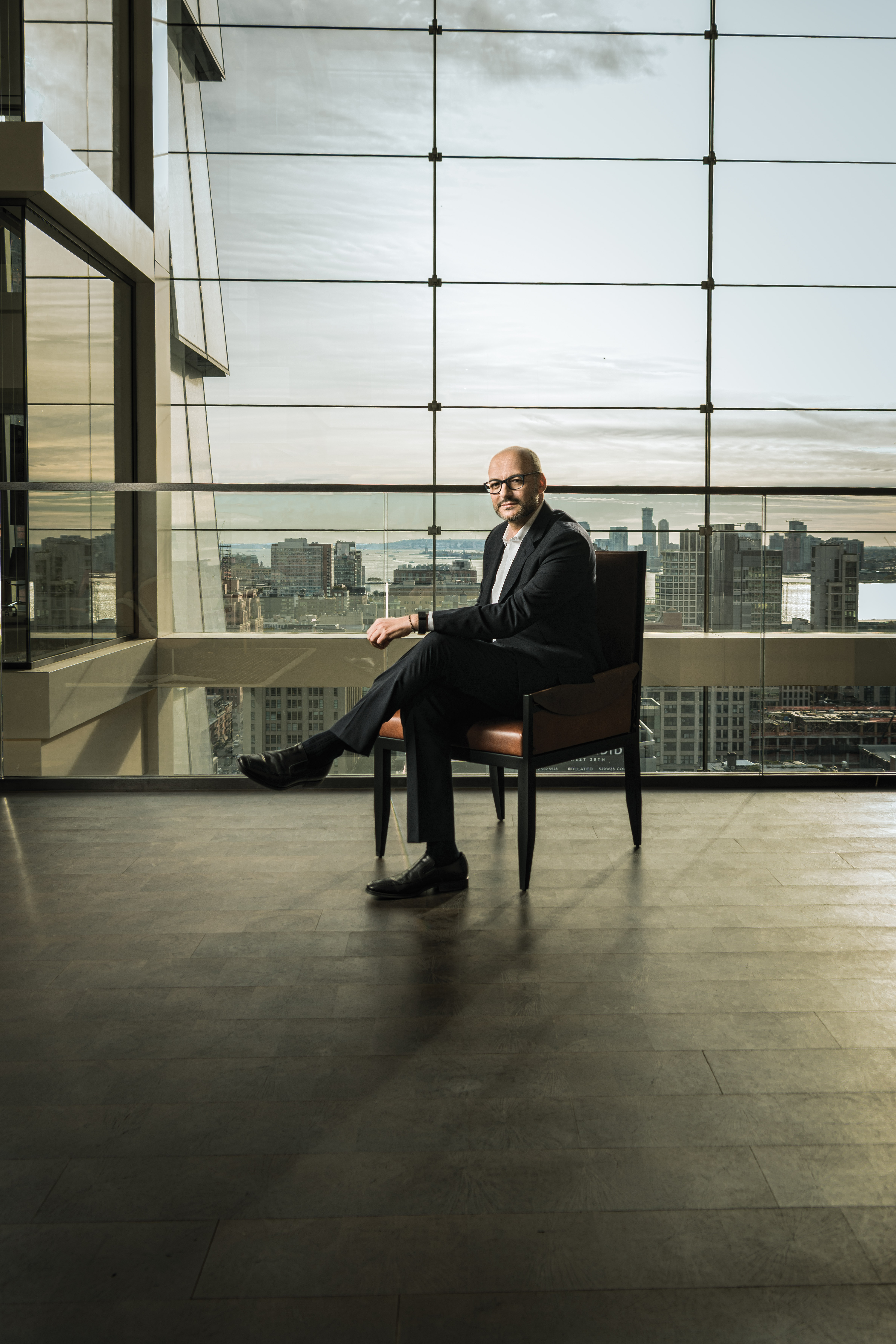 Victor Luis at coach's Hudson Yards headquarters in New York.