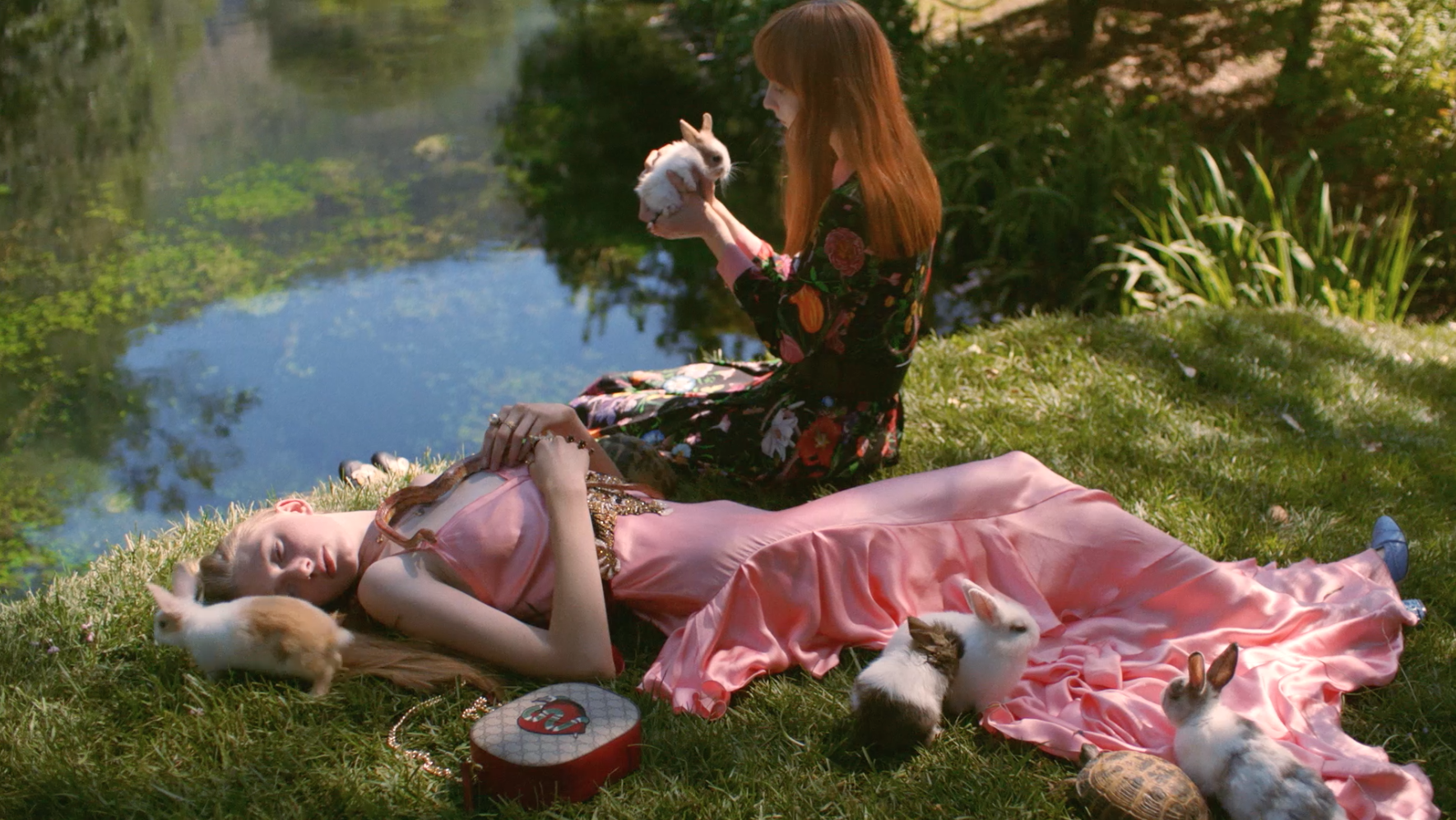 A screenshot taken from Gucci's 2016 Gift Giving campaign film.