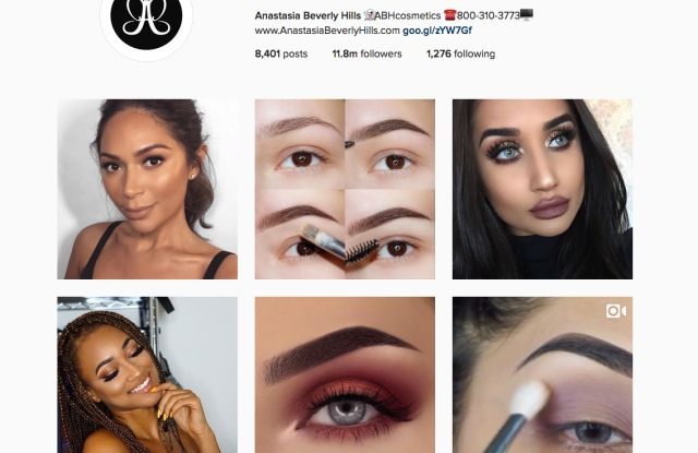 Anastasia Beverly Hill's Instagram page.