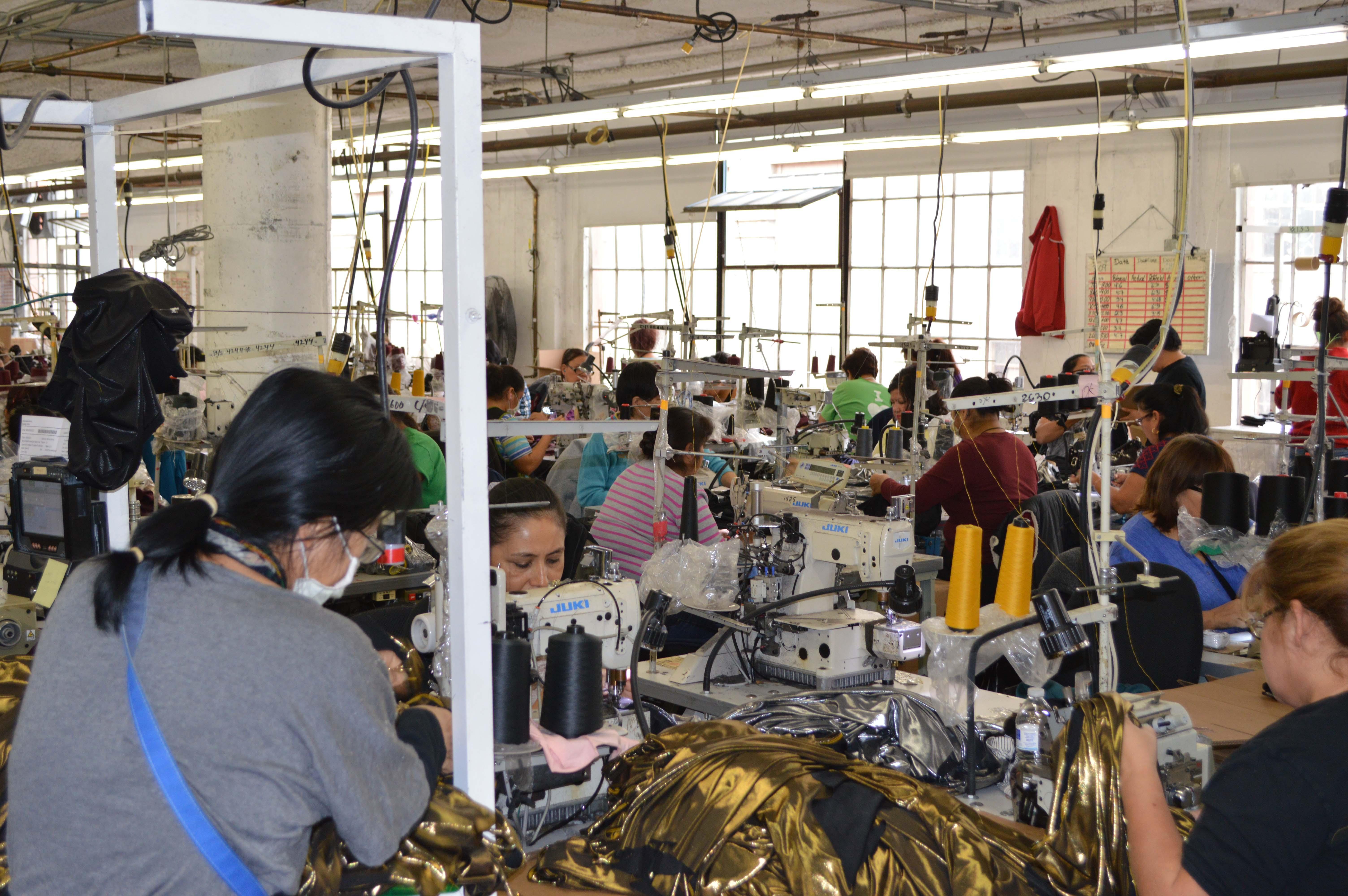 American Apparel factory Los Angeles