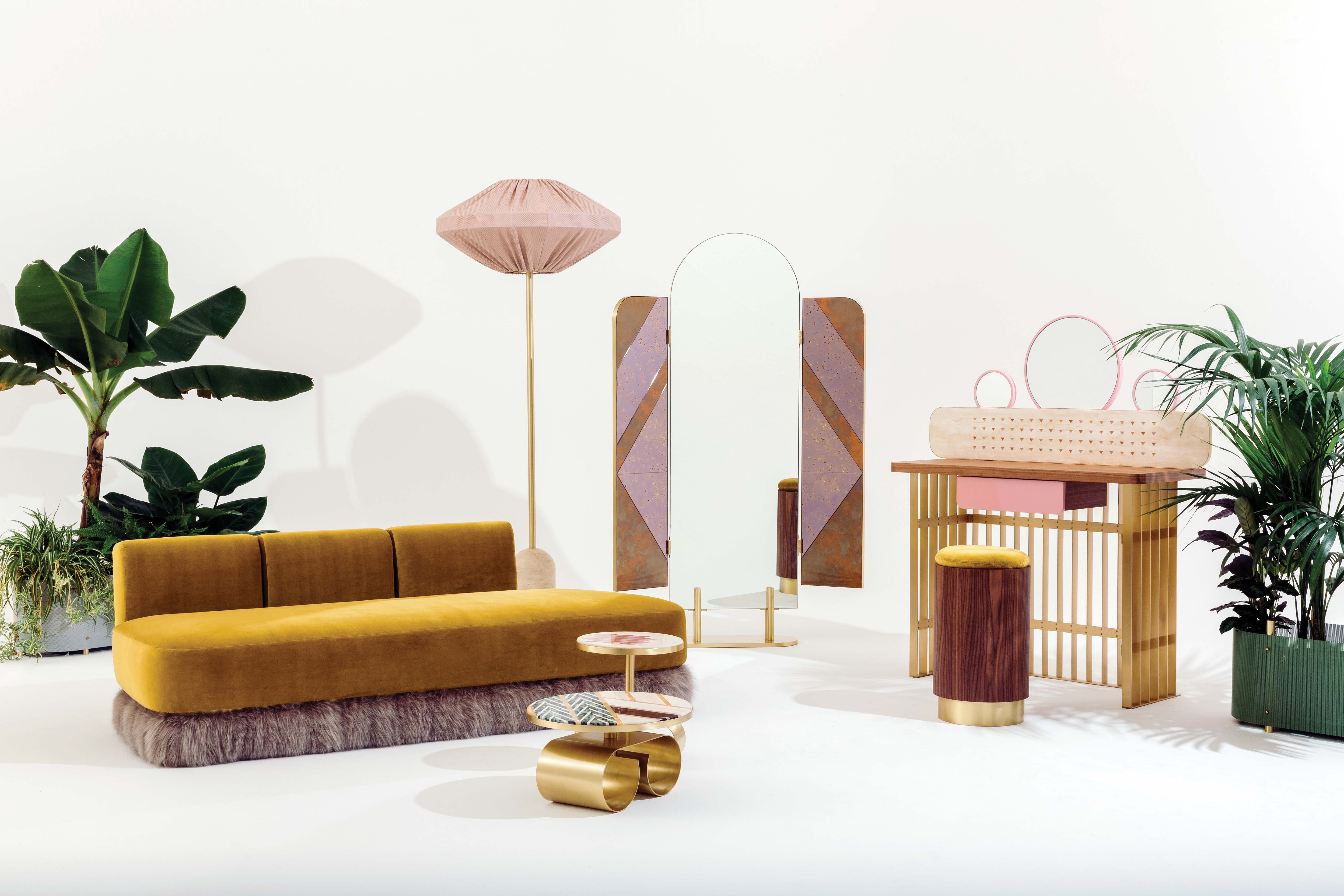 """Fendi wants to make you happy. The Roman Maison has paired with architect Cristina Celestino to design furnishings for their """"traveling VIP Room,"""" dubbed The Happy Room. The Art Deco-meets-the-Fifties collection will be unveiled under the Design Miami tent."""