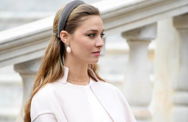 Beatrice Borromeo wearing Giorgio Armani Privé on Monaco's National Day