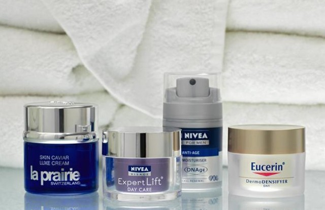 Beiersdorf products from Nivea, Eucerin and La Prairie.