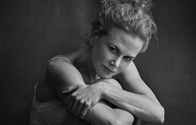 Nicole Kidman in the 2017 Pirelli Calendar, shot by Peter Lindbergh.