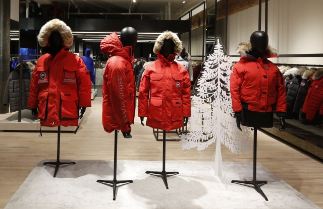The Canada Goose store in Soho.