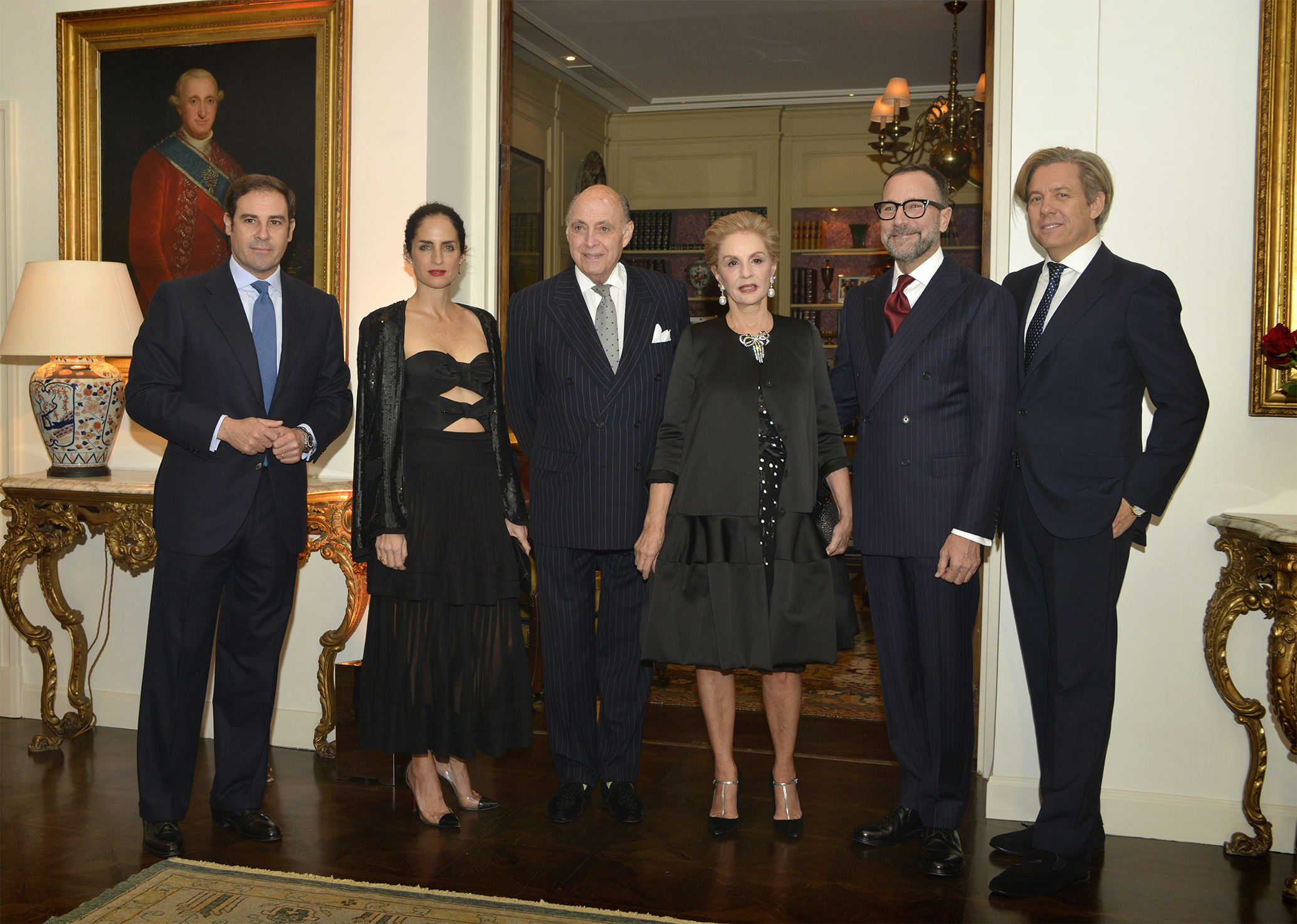Miguel Báez, Carolina Herrera de Báez, Reinaldo Herrera, Carolina Herrera, Ambassador James Costos and Michael Smith