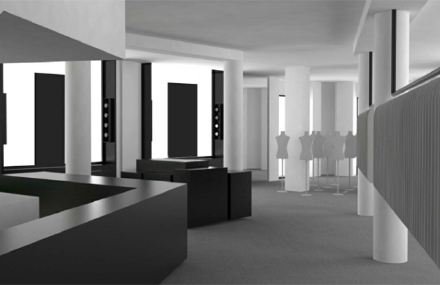 A rendering of the Cerruti 1881 boutique.