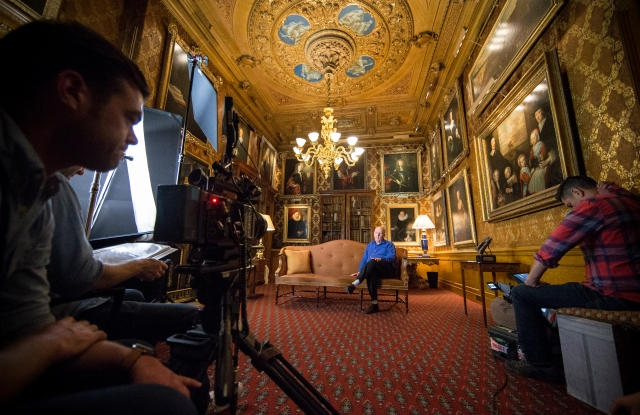 """Duke of Devonshire while filming """"Treasures of Chatsworth"""""""