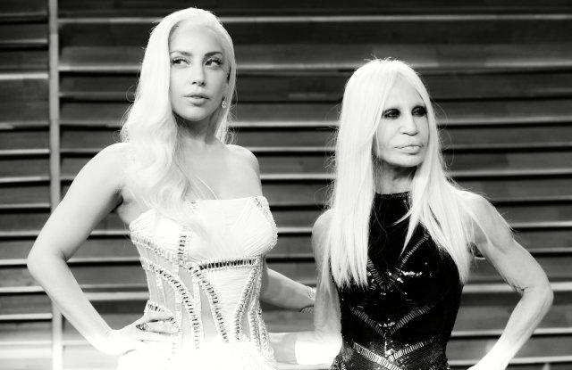 Donatella Versace and Lady Gaga in 2014.