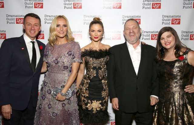 Composer Andrew Lippa, Keren Craig, Georgina Chapman, Harvey Weinstein and Rachel Routh, of the Dramatists Guild Fund.