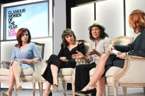 Maureen Dowd, Lena Dunham and Dolores Huerta