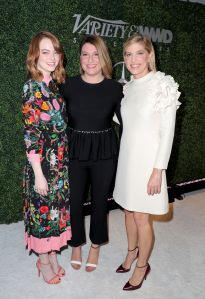 Emma Stone Rachel Goodwin Petra Flannery Stylemakers 2016