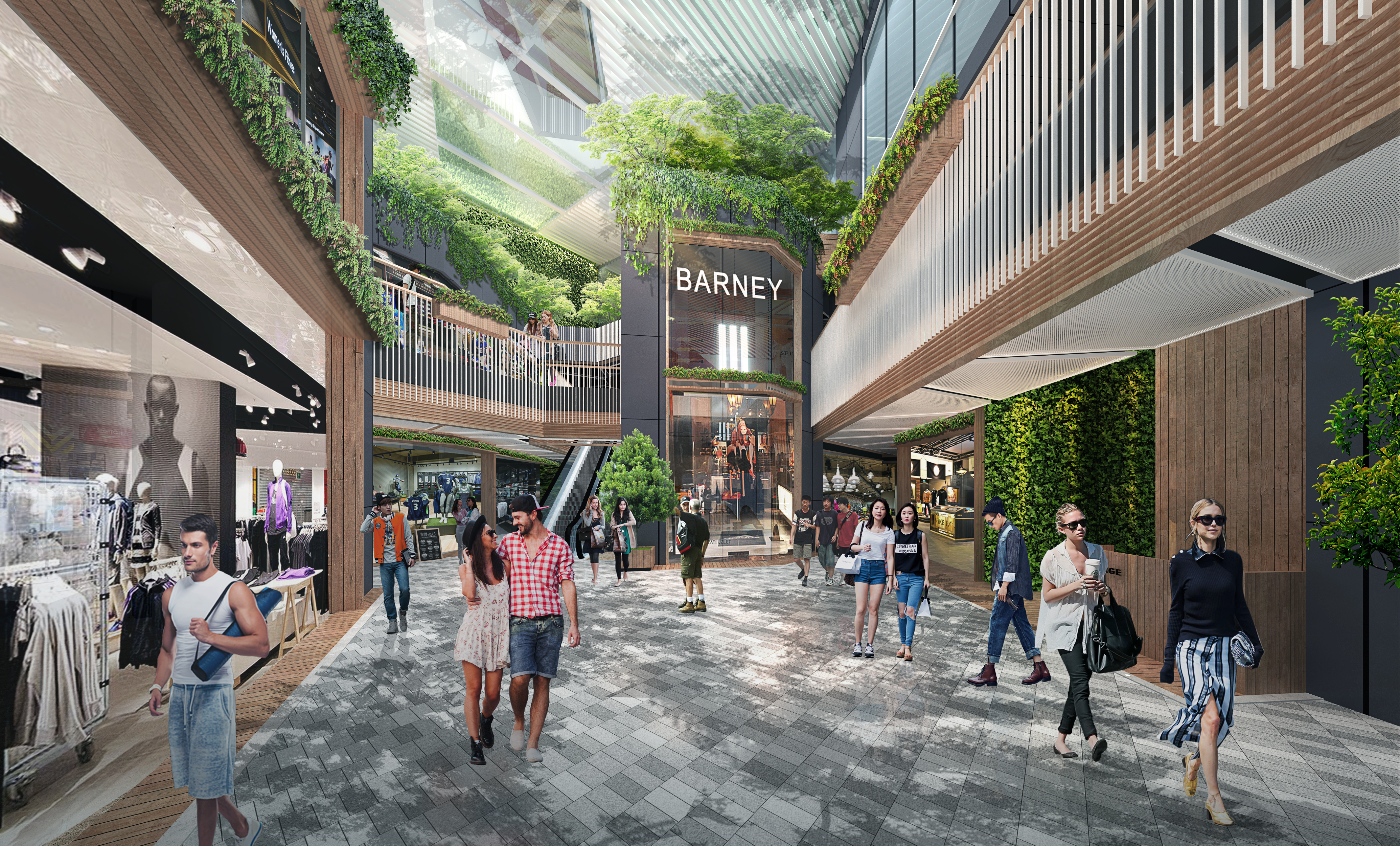 Another mock-up of what The Forest retail concept will look like.