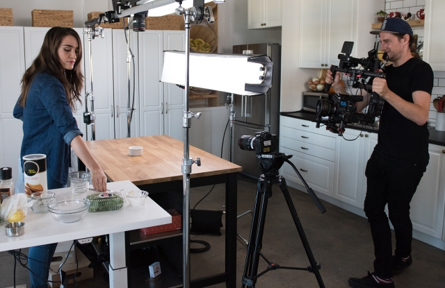 Behind the scenes of a Tasty Shoot for Fossil.