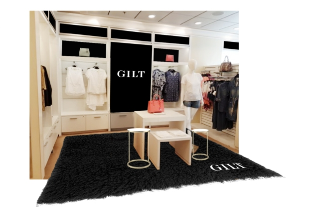 A rendering of Gilt at Sea pop up on the Silhouette