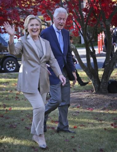Hillary Clinton ELection Day 2016 Ralph Lauren Pantsuit