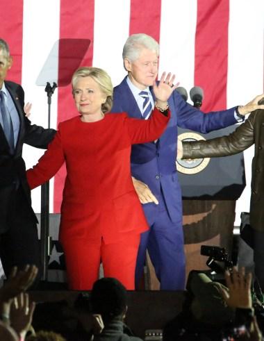 HIllary Clinton red pantsuit ralph lauren