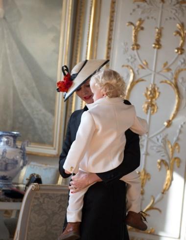 Prince Jacques donned Armani Junior.