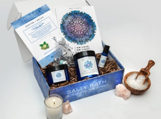 Salty Bath offers items to de-stress in a box.