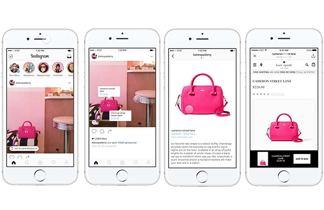Kate Spade is one of the first brands to test the new shopping feature on Instagram.