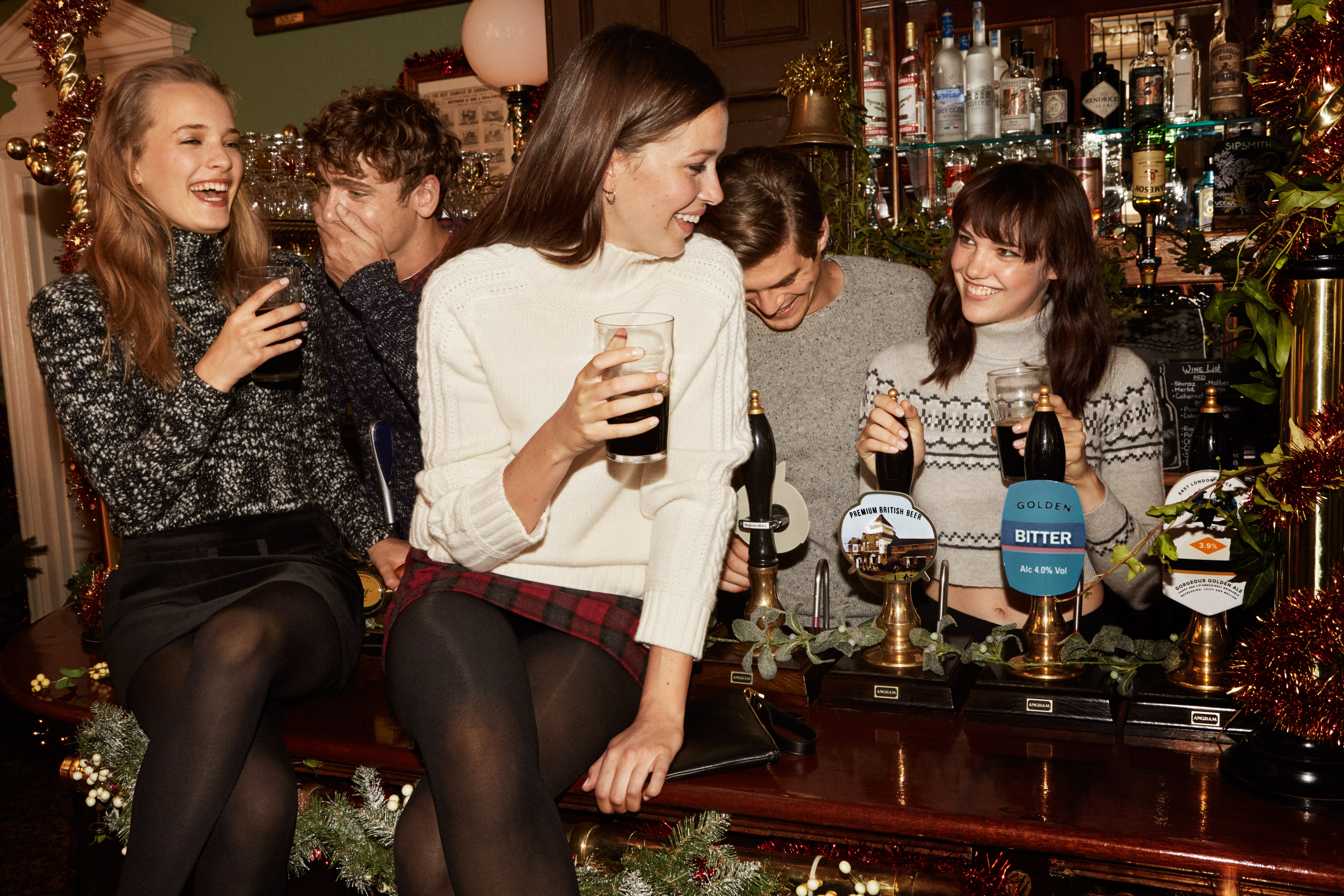 A visual from the Jack Wills holiday campaign.