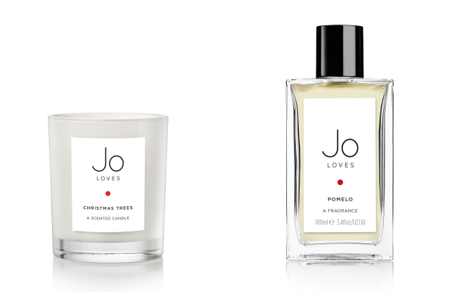 Jo Loves' Pomelo fragrance and Christmas Trees scented candle.