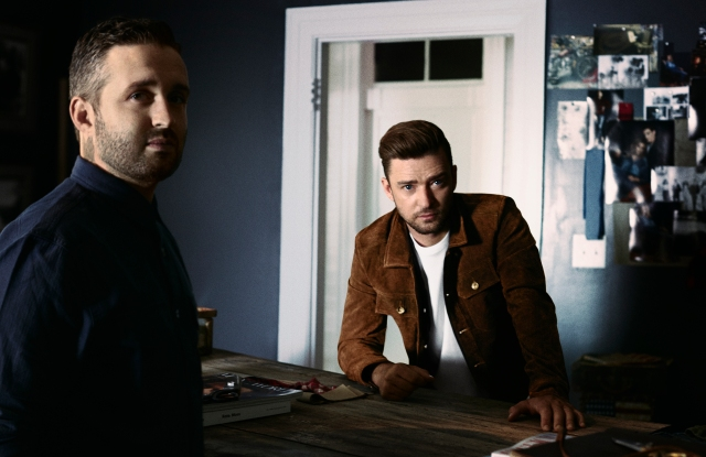 Justin Timberlake in a Gilt exclusive, with Trace Ayala