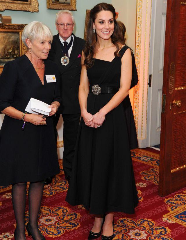 kate middleton black preen dress