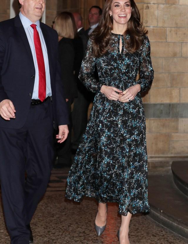 Kate Middleton LK Bennett floral midi dress