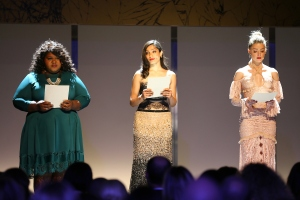 Gabourey Sidibe, Frida Pinto and Amber Heard at Glamour Women of the Year 2016
